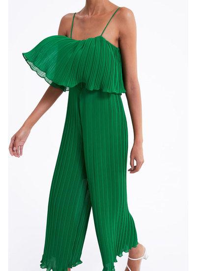 Trendy jumpsuit in plissé.