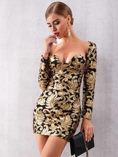 Boutique jurk met lange mouwen