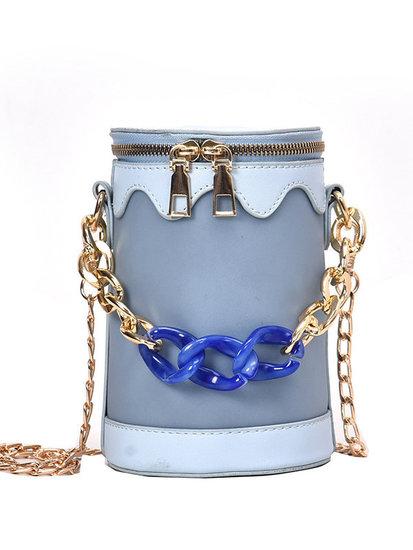 Trendy ronde bucket schoudertas