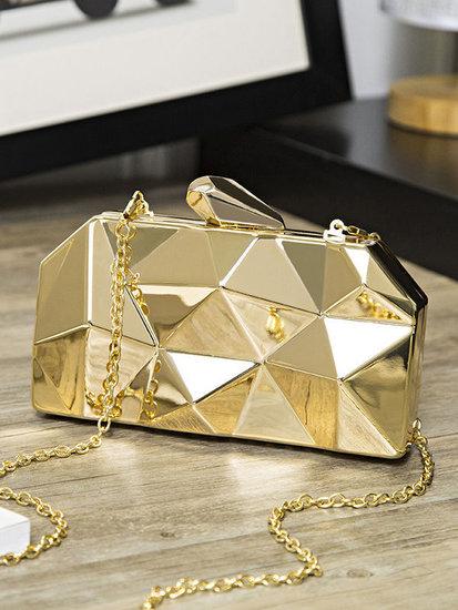 Fashion geometric avond/clutchbag