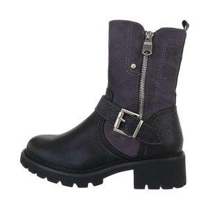 Trendy hoge grijze boot Norma.