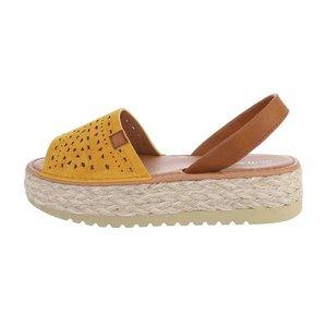 Trendy gele platform sandaal Herma.