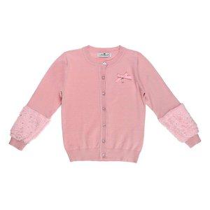Trendy licht rose meisjes pullover.