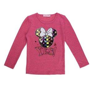 Rose meisjes pullover met deco en opschrift.
