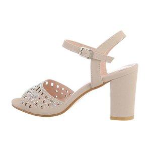 Trendy beige hoge sandaal Alani.