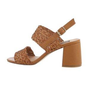 Bruine hoge sandaal Milda.
