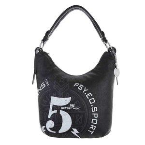 Kleine zwarte shopperbag.