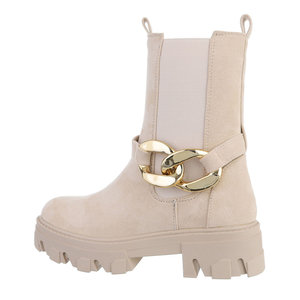 Trendy beige daimen Chelsea boot Isra.