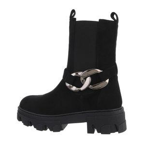 Trendy zwarte daimen Chelsea boot Isra.
